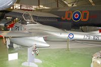 A79-821 - De Havilland Australia DH-115 Vampire T.35, c/n: DHA4101 at Perth Aviation Heritage Museum - by Terry Fletcher