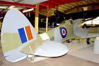 PK481 @ YPJT - 1945 Supermarine 356 Spitfire F.22, c/n: CBAF.70 at Perth Aviation Heritage Museum
