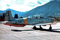 A-801 @ LSZL - Pilatus P.3-05 [318] (Swiss Air Force) Locarno~HB 27/09/1984. Taken from a slide. - by Ray Barber