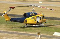P2-MLJ @ YPJT - Bell 214B-1, c/n: 28066 at Jandakot on fire-fighting contract