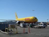 N793AX @ KSEA - DHL (ABX Air). 767-281BDSF. N793AX 793 cn 23143 114. Seattle Tacoma - International (SEA KSEA). Image © Brian McBride. 11 September 2012 - by Brian McBride