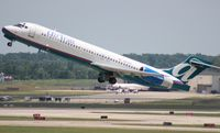 N915AT @ DTW - Air Tran 717.  I flew in on this plane from MCO, watched it take off to return there