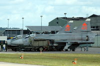 37449 @ ESDF - Two Saab JA37DI Viggen fighters of the Swedish Air Force parked at Ronneby Air Base, 2004. - by Henk van Capelle