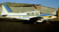 G-BBOK @ CAX - PA-23-250 Aztec of Clyde Forster Limited as seen at Carlisle in the Summer of 1978. - by Peter Nicholson