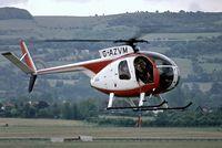G-AZVM @ EGBC - Hughes 369HS [61-0326S] Cheltenham Racecourse~G 30/05/1981. Taken from a slide. - by Ray Barber