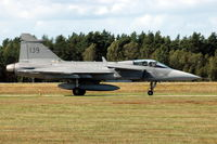 39139 @ ESDF - Saab JAS39A Gripen fighter of the Swedish Air Force taxying at Ronneby Air Base, 2004. - by Henk van Capelle