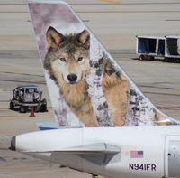 N941FR @ FLL - Frontier Lobo the Gray Wolf A319