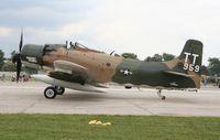 N959AD @ YIP - AD-4N Skyraider