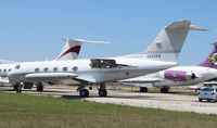 N985BB @ OPF - Gulfstream IITT, rare G2 with tip tanks being scrapped