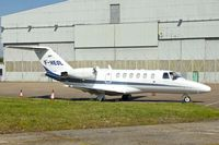 F-HEOL @ EGNX - Cessna 525A, c/n: 525A-0219 at East Midlands