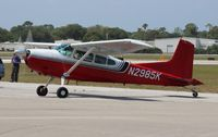 N2985K @ EVB - Cessna 180K used as a jump plane at New Smyrna Beach Airshow