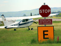 D-EEPY @ EGPN - General view within GA area with visiting Cessna D-EEPY obeying the sign. - by Clive Pattle
