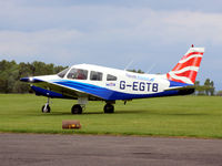 G-EGTB @ EGPT - Taxi at EGPT - departing for the short trip back to its base at Dundee Riverside EGPN - by Clive Pattle
