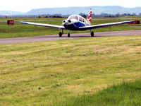 G-EGTB @ EGPN - Aircraft taxying close to viewing area - by Clive Pattle