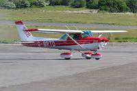 G-BRTD @ EGFH - Visiting Cessna 152. Previously registered N757UW. - by Roger Winser