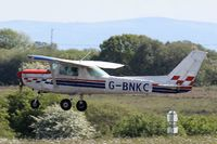 G-BNKC @ EGFH - Visiting Cessna 152 from the Herefordshire Areo Club, seen at EGFH. - by Derek Flewin
