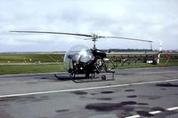 F-BOFV @ LFPN - Agusta-Bell 47G-2 [169] Toussus Le Noble~F 13/09/1980. From a slide.