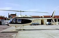 G-CPTS @ EGNH - Agusta-Bell 206B Jet Ranger II [8556] Blackpool~G 18/08/1979. From a slide.