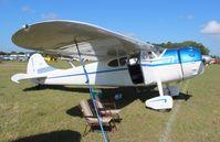 N4371N @ LAL - Cessna 195 in vintage parking Sun N Fun
