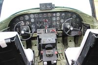 N6813D @ YIP - Cockpit of P4Y-2