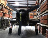 N7537U @ FA08 - Hellcat under restoration at Fantasy of Flight
