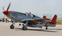 N61429 @ EVB - Red Tails P-51C at New Smyrna Beach Airshow - by Florida Metal