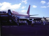 N73717 @ HNL - Aloha 737-200 taken by my late grandfather Pat Compton circa 1979