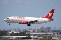 XA-EMX @ MIA - Estafeta Cargo 737-300
