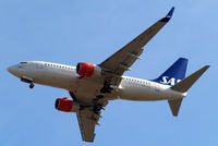 LN-TUM @ EGLL - Boeing 737-705 [29098] (SAS Scandinavian Airlines) Home~G 15/07/2013. On approach 27R. - by Ray Barber
