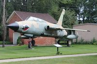 62-4425 - F-105G Thunderchief in front of a VFW Hall in Blissfield MI - by Florida Metal