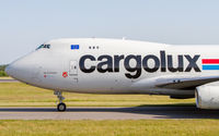 LX-UCV @ ELLX - taxying to the cargo center at LUX