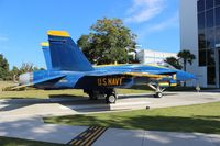 161955 @ NPA - F-18A Hornet in Blue Angels colors - by Florida Metal