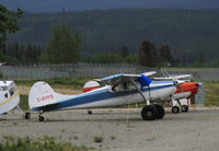 C-GYFD @ CYXY - Tied down at the local-aircraft parking at Whitehorse, Yukon. - by Murray Lundberg