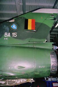 BA-15 - Rear part of Mirage 5BA c/n 15 in Belgian Musée Royal de l'Armée. - by J-F GUEGUIN