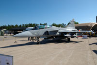 39836 @ ESDF - Saab JAS39D Gripen of the Swedish Air Force on the platform of Ronneby Air Base - by Henk van Capelle