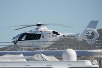 M-ABDQ @ LXGB - On board a motor yacht moored next to Gibraltar airport. - by Graham Reeve