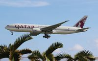 A7-BBD @ MIA - Qatar Airways 777-200LR just started service to Miami - by Florida Metal