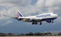 EI-XLM @ MIA - Transaero 747-400