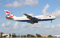 G-BNLZ @ MIA - British 747-400