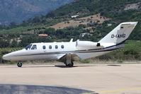 D-IAHG @ LFKC - Taxiing, It's Cessna 525 CJ1 c/n 525-0126 built in 1996 - by micka2b