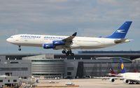 LV-ZPJ @ MIA - Aerolineas Argentinas A340-200