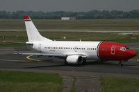 LN-KKX @ EDDL - Boeing 737-300 Norwegian - by Triple777