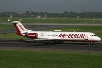 D-AGPE @ EDDL - Fokker 100 Air Berlin - by Triple777