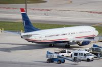 N424US @ MIA - US Airways 737-400