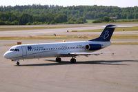 F-GNLG @ ESSA - Fokker F-100 [11363] (Blue Line) Stockholm-Arlanda~SE 06/06/2008