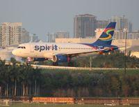 N502NK @ FLL - Spirit A319