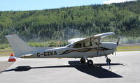 C-GZKA @ CYDA - Tied down at Dawson City, Yukon. - by Murray Lundberg