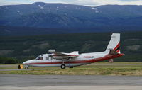 C-GBQD @ CYXY - Taxiing from the fire tanker base at Whitehorse, Yukon. - by Murray Lundberg