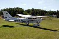 D-EAYY @ ESSE - Diesel-powered Cessna 172S taxying towards the runway at Skå-Edeby airfield, Sweden - by Henk van Capelle