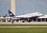 N716UW @ PBI - US Airways A319